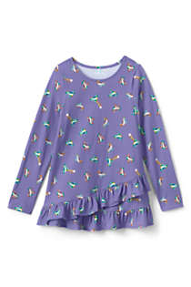 Girls Long Sleeve Pattern Tunic Top, Front
