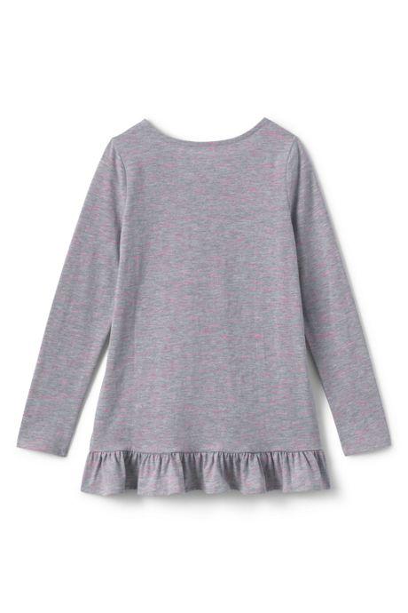 Toddler Girls Long Sleeve Heather Tunic Top