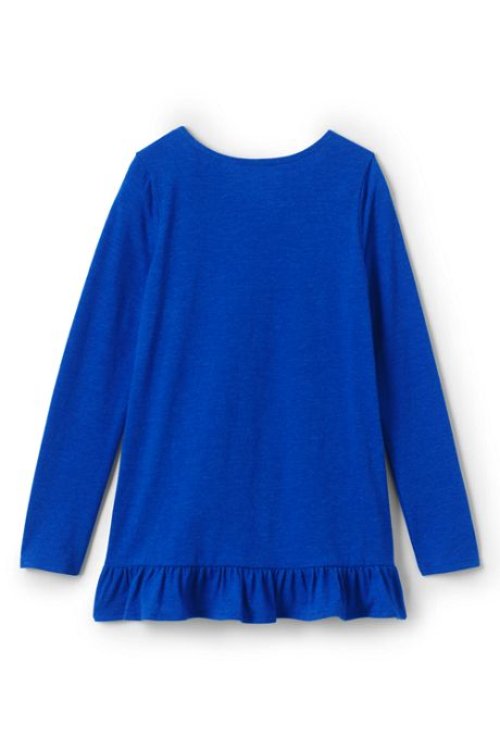 Little Girls Long Sleeve Heather Tunic Top