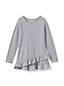 Little Girls' Asymmetric Ruffle Hem Tunic Top