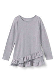 Girls Plus Size Long Sleeve Heather Tunic Top