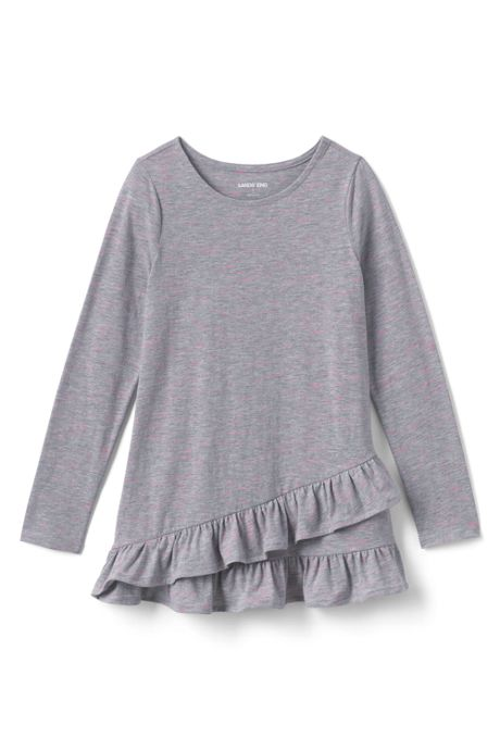 Toddler Girls Long Sleeve Heather Tunic Top