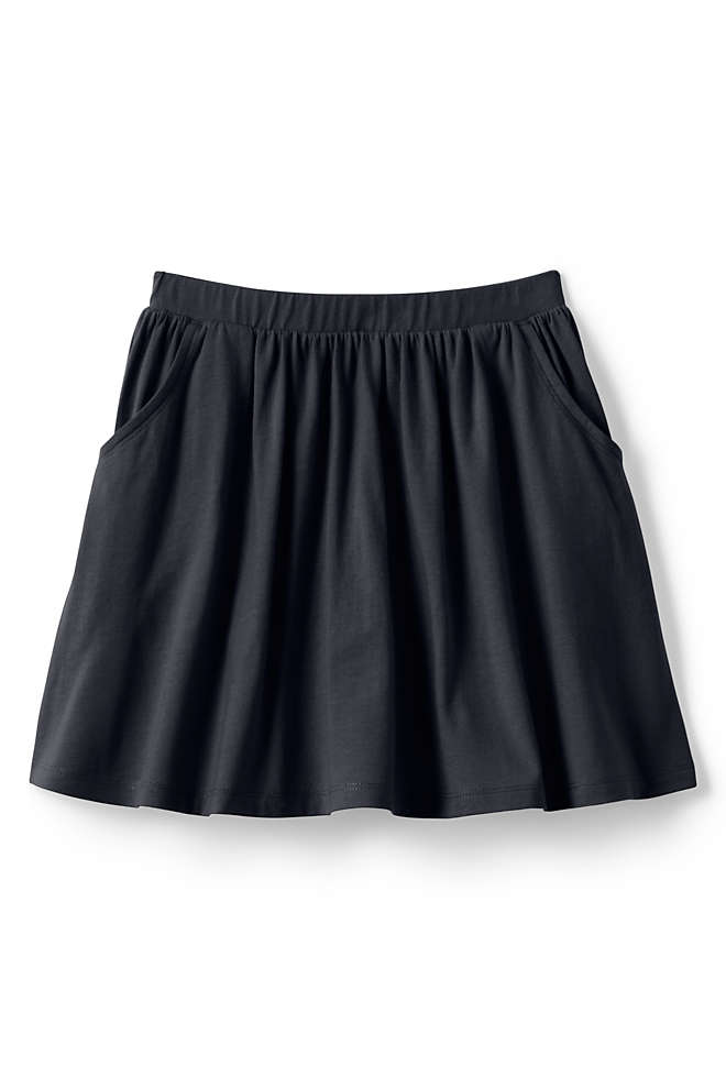 School Uniform Girls Solid Skort, Front