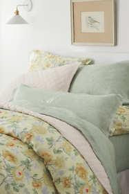 Garment Washed Linen Printed Duvet Cover