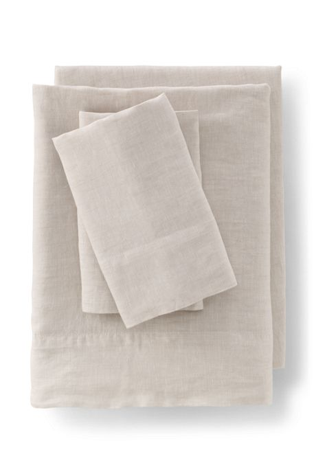 Garment Washed Chambray Linen Pillowcases