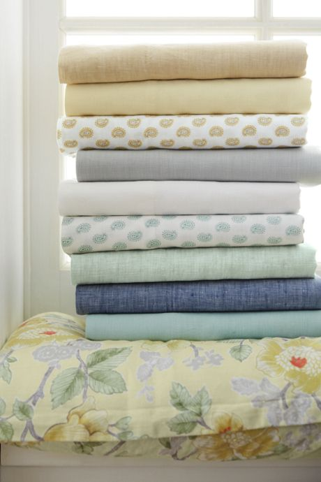 Garment Washed Linen Printed Sheets