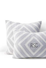 Diamond Stripe Quilted Sham