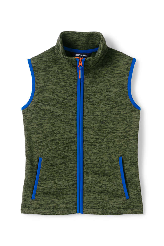 Boys Sweater Fleece Vest, Front