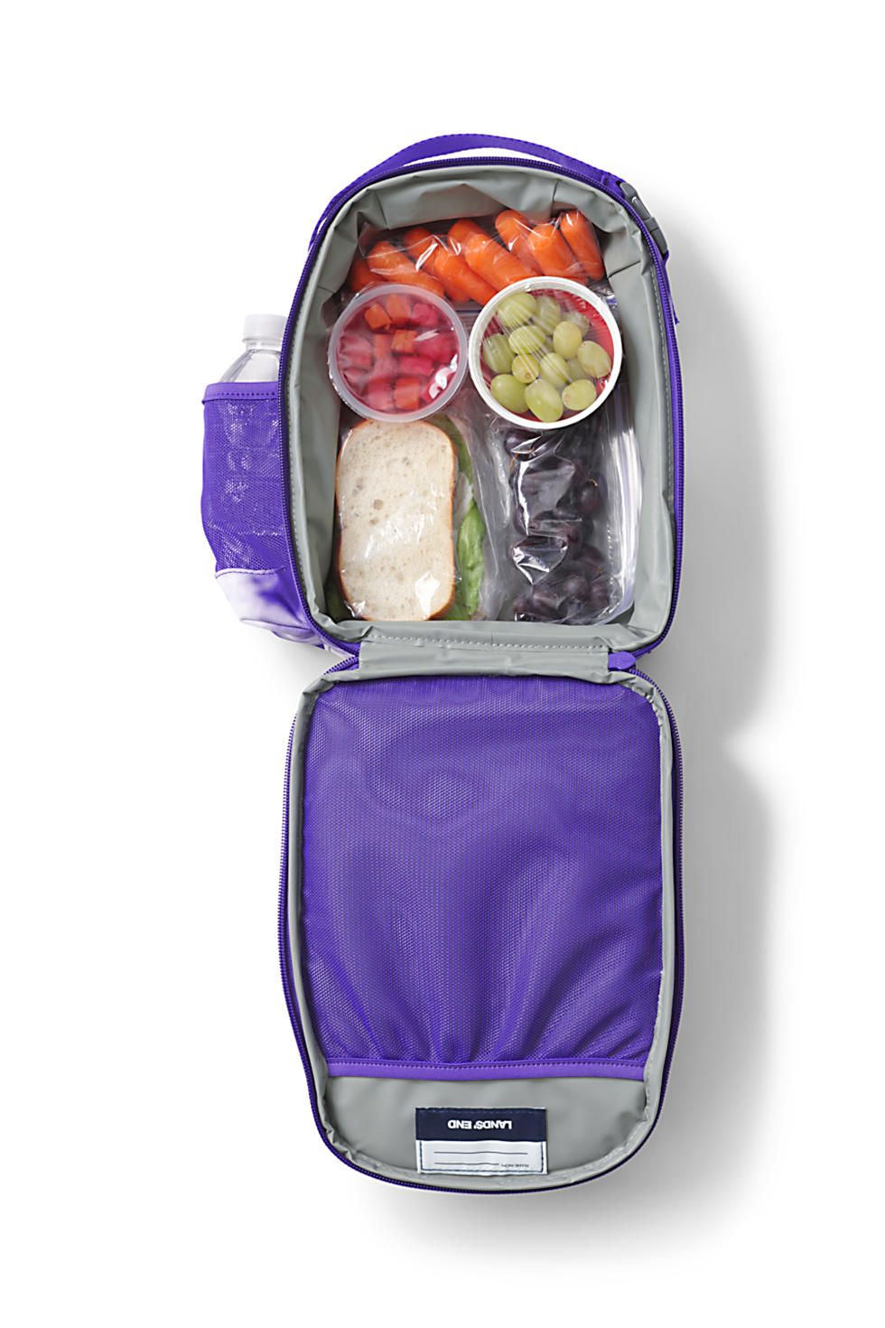 Lands' End Kids Insulated Soft Sided Lunch Box (Sour Grape Tie Dye)