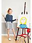 Gemusterter Jersey-Rock SKORT für kleine Mädchen