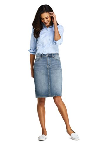 Women's Mid Rise 360° Stretch Denim Skirt