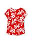Little Girls' Short Sleeve Hawaiian Print Cotton T-shirt
