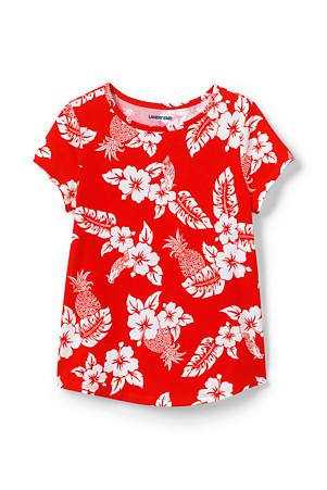 5d82e7218 Girls' Short Sleeve Hawaiian Print Cotton T-shirt | Lands' End