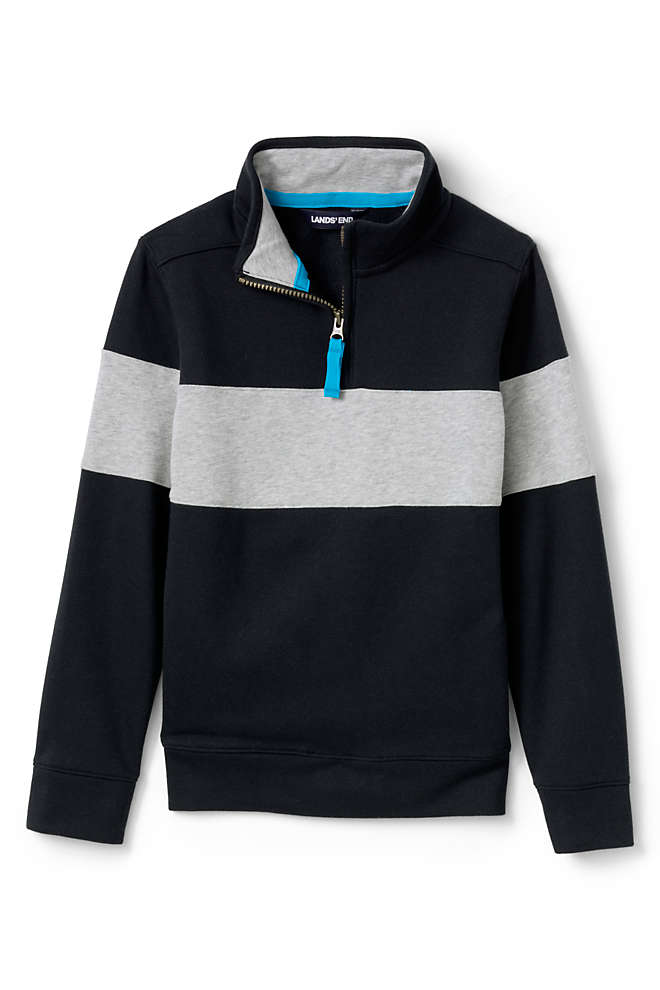 Little Boys Chest Stripe Quarter Zip Pullover, Unknown