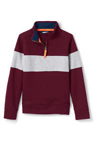 Boys Husky Chest Stripe Quarter Zip Pullover