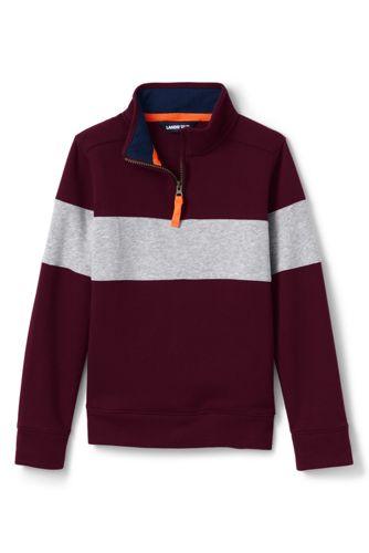 Little Boys' Half-zip Sweatshirt, Chest Stripe