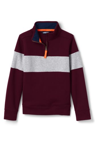 Sweatshirt 1/2 Zip à Rayure, Petit Garçon
