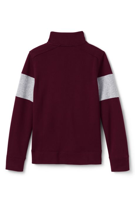 Boys Chest Stripe Quarter Zip Pullover