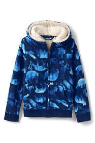 Little Kids Pattern Sherpa Lined Zip Hoodie
