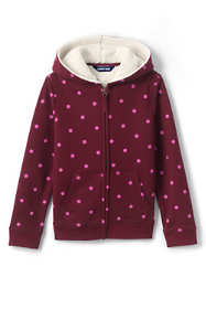 Little Kids Pattern Sherpa Lined Zip Hoodie