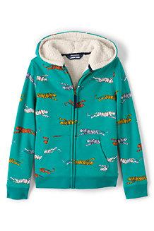 Kids' Patterned Sherpa-lined Hoodie