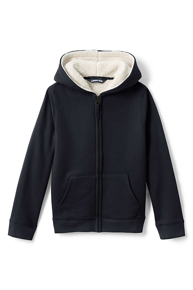 Toddler Kids Sherpa Lined Zip Hoodie, Front