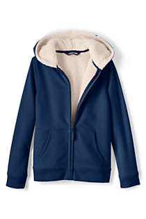 Kids Sherpa Lined Zip Hoodie, alternative image