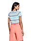 T-Shirt Rayé en Lin et Coton, Femme Stature Standard