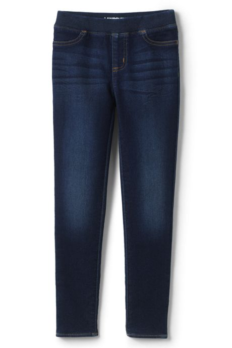 Girls Iron Knee Denim Jeggings