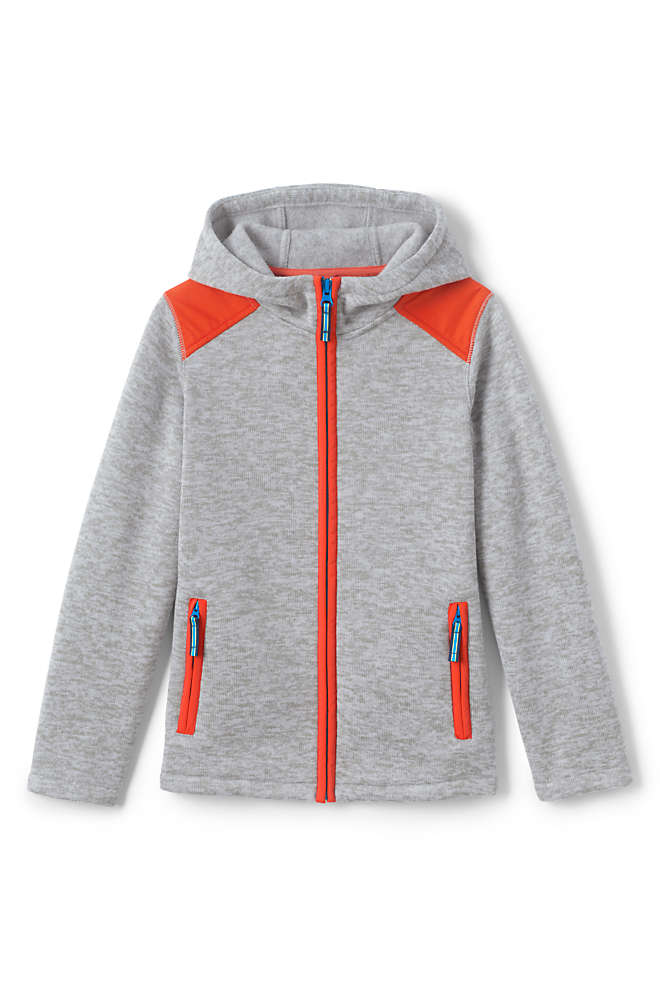 Toddler Boys Sweater Fleece Jacket, Front