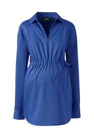 Women's Maternity Long Sleeve Splitneck Side Tie Stretch Shirt