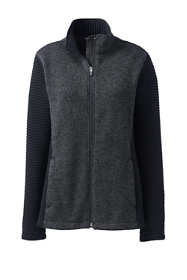 Women's Textured Sweater Fleece Jacket