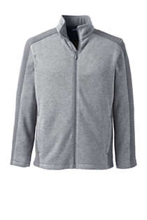 Men's Textured Sweater Fleece Jacket, Front