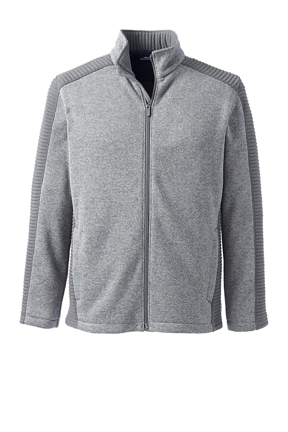 Lands' End Men's Textured Sweater Fleece Jacket (various colors/sizes)