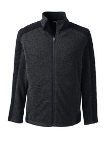 Men's Custom Embroidered Textured Sweater Fleece Jacket