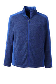 Men's Textured Sweater Fleece Jacket