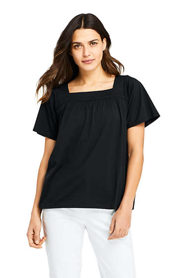298e269a835ef Women s Short Sleeve Square Neck Top from Lands  End
