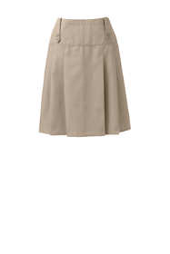 School Uniform Women's Poly-Cotton Tab Front Skirt Top of Knee