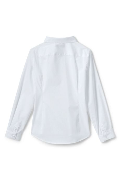 Girls No Gape Long Sleeve Stretch Shirt