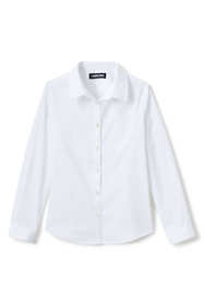 School Uniform Girls No Gape Long Sleeve Stretch Shirt