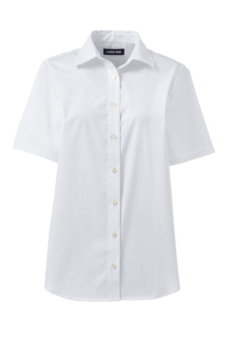 School Uniform Women's No Gape Short Sleeve Stretch Shirt