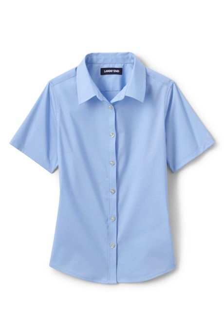 Girls No Gape Short Sleeve Stretch Shirt