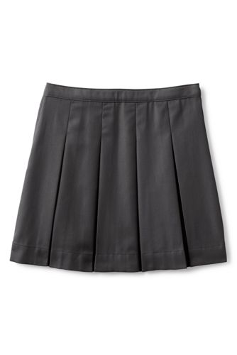 School Uniform Girls Poly-Cotton Box Pleat Skirt Top of Knee
