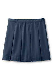 School Uniform Little Girls Poly-Cotton Box Pleat Skirt Top of Knee