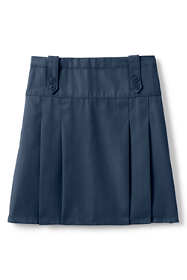 School Uniform Girls Poly-Cotton Tab Front Skirt Top of Knee