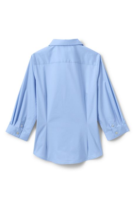 Girls No Gape 3/4 Sleeve Stretch Shirt