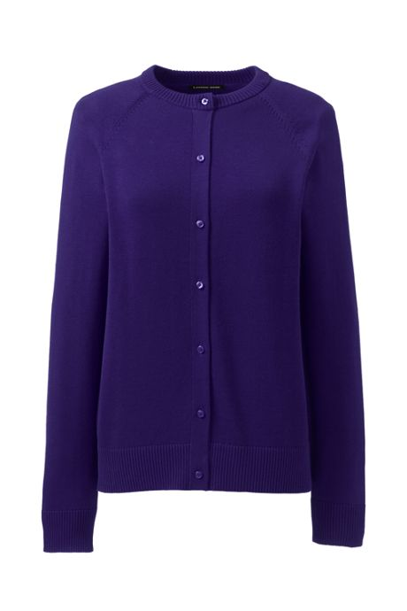 School Uniform Women's Cotton Modal Cardigan Sweater