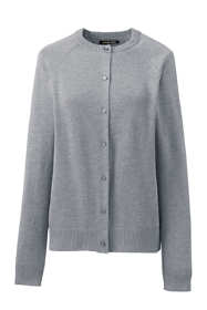 School Uniform Women's Cotton Modal Fine Gauge Cardigan Sweater