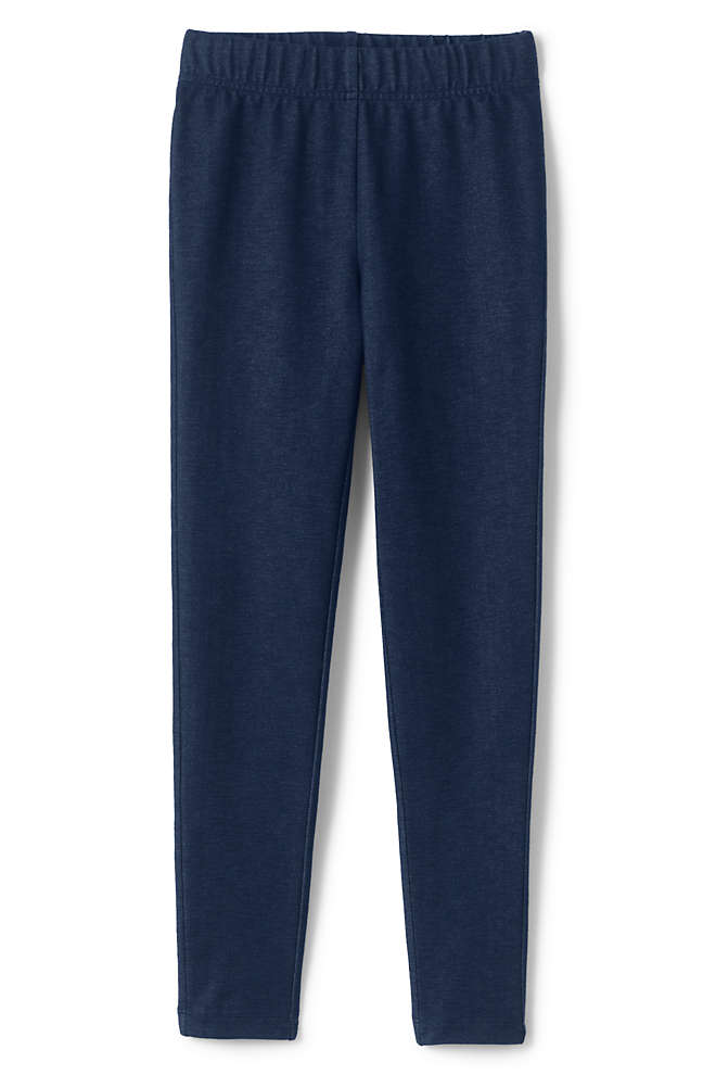 Girls Plus Iron Knee Faux Denim Leggings, Front