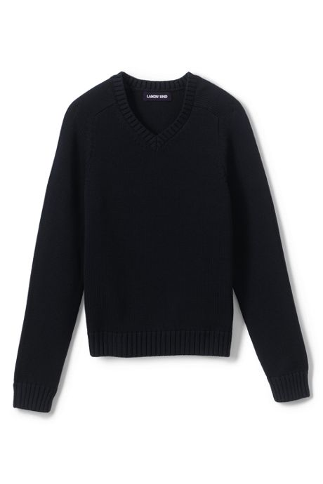Kids Cotton Modal V-neck Sweater